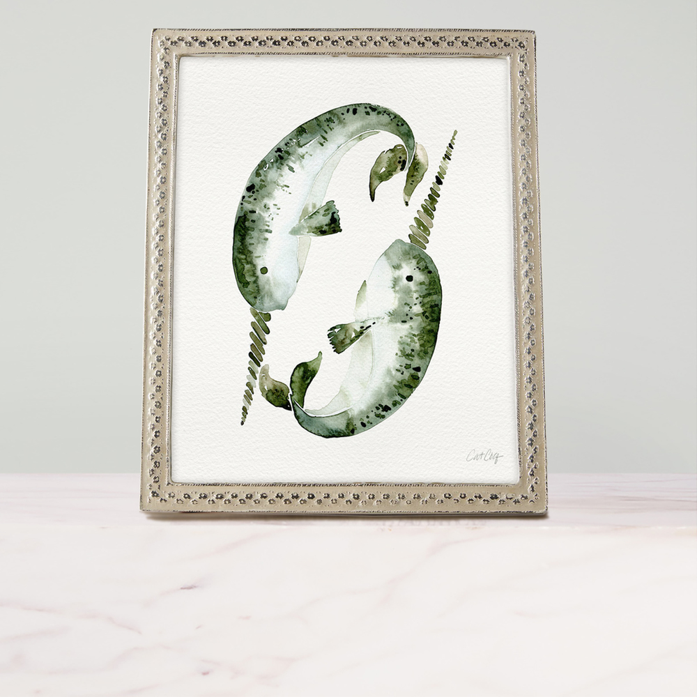 Narwhals art print available  here .