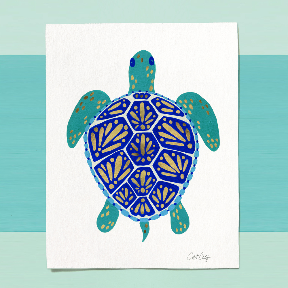 Sea Turtle art print available  here .