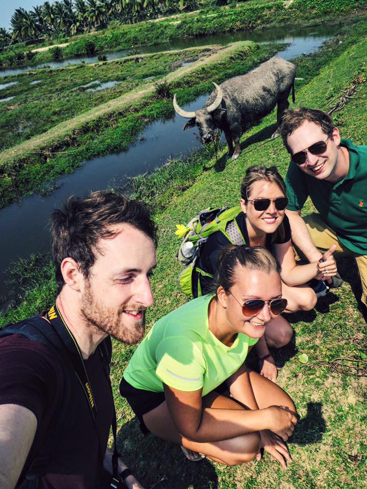 When an opportunity for a legendary selfie arises, you've got to embrace it. (After this, the water buffalo snorted & we all screamed & scattered like leaves.) You crazy, Vietnam.