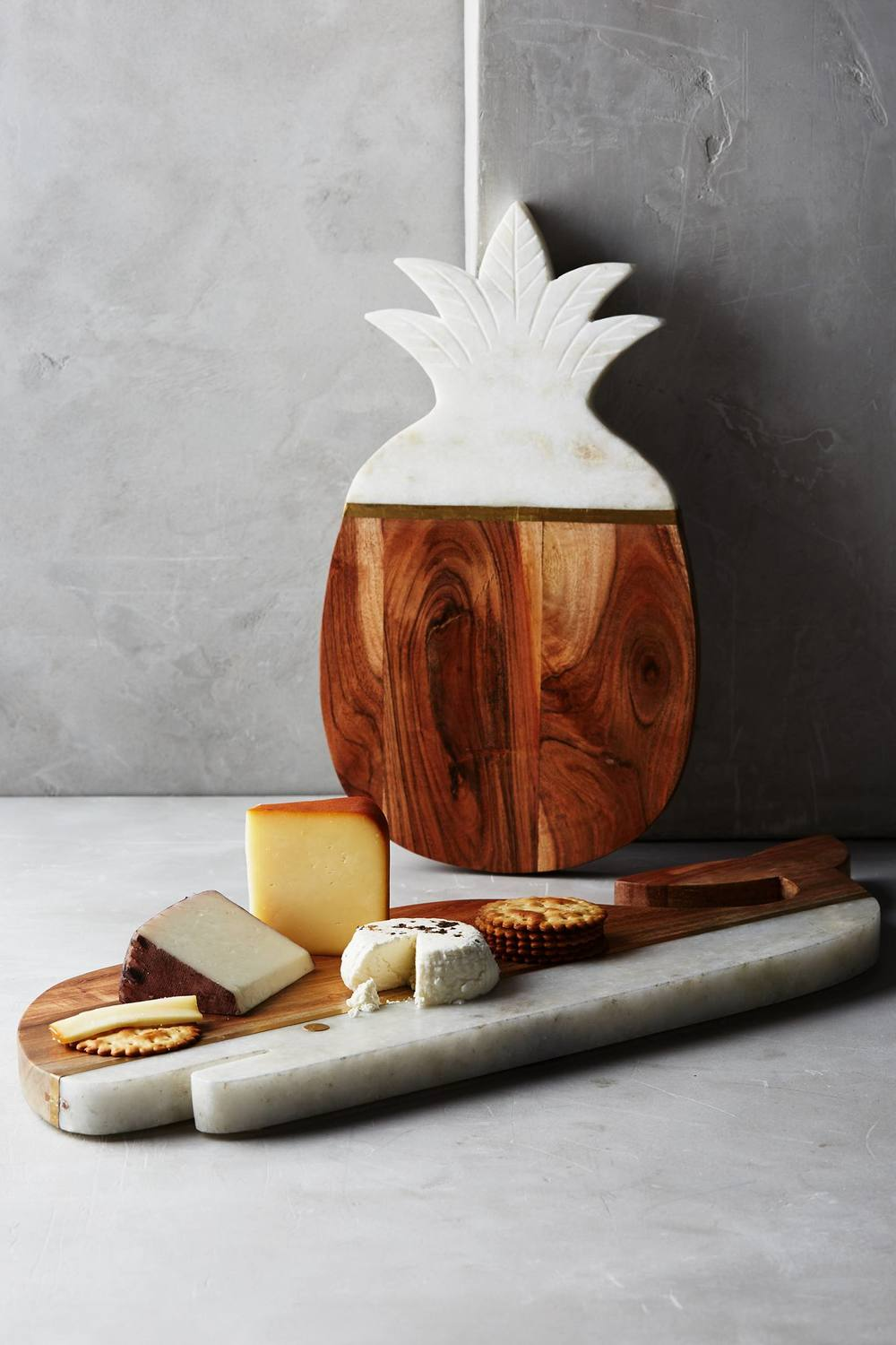 Marble & Acacia Cheese Board   •  Anthropologie