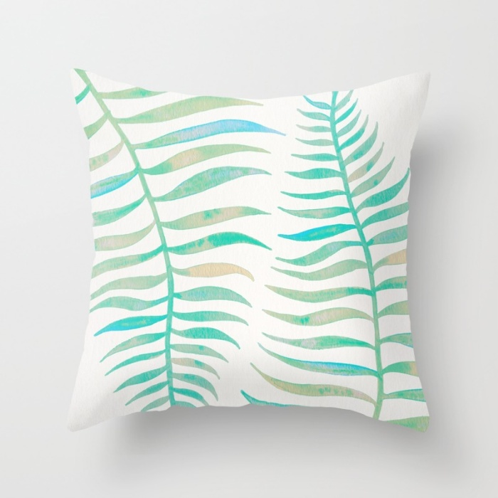 Sea Foam Palm Leaf   •  Society6