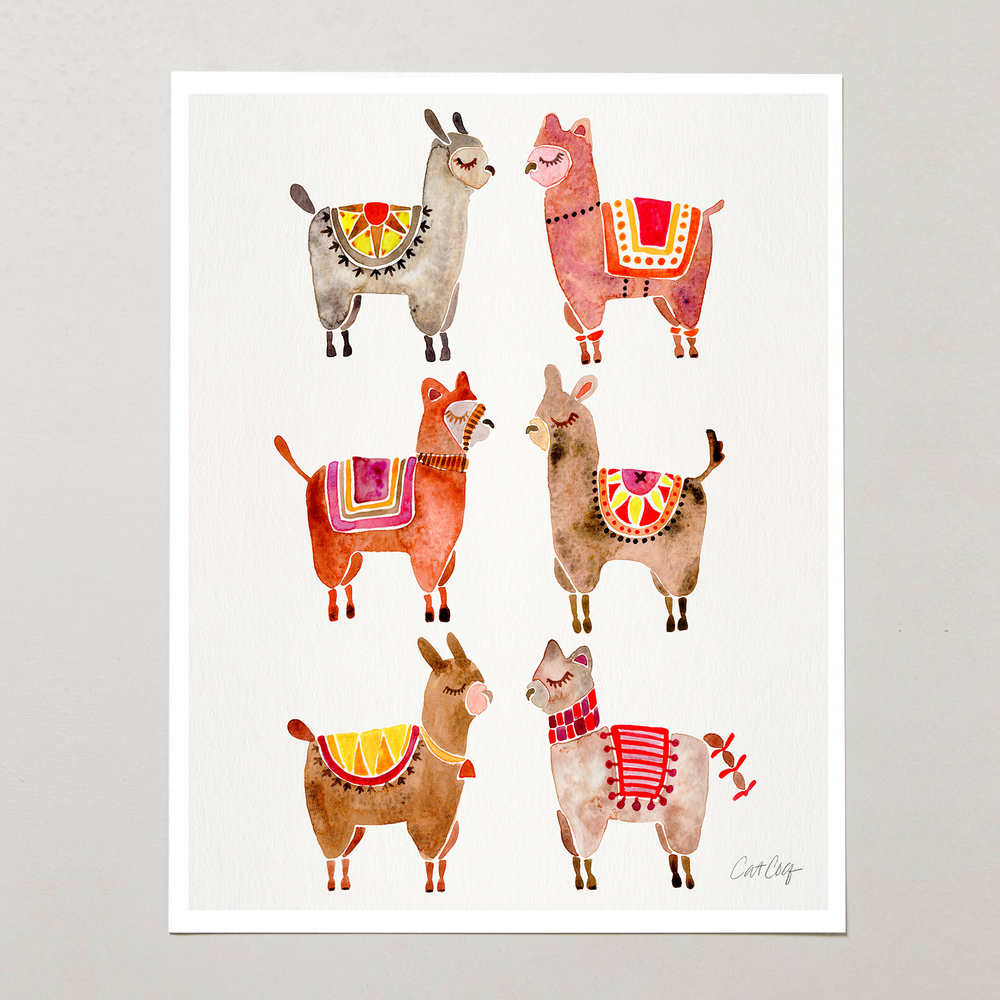 Watercolor Alpacas   •  Etsy