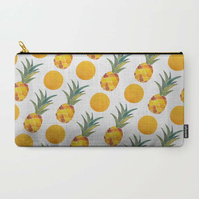 Pineapple Carry-all Pouch   •  Society6