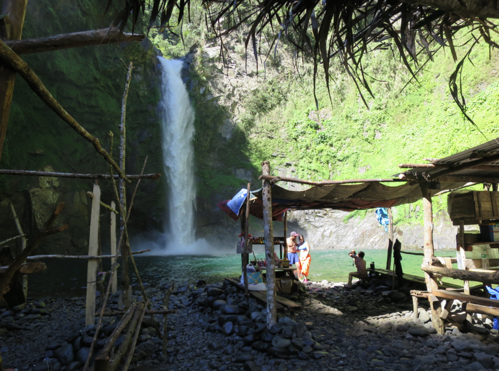 We hiked down to the base of Batad to check out the waterfall.