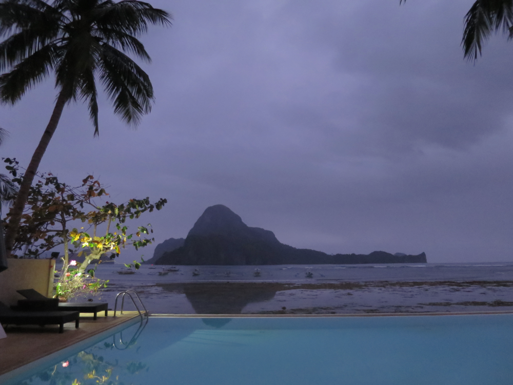 Cadlao Island just before sunrise.