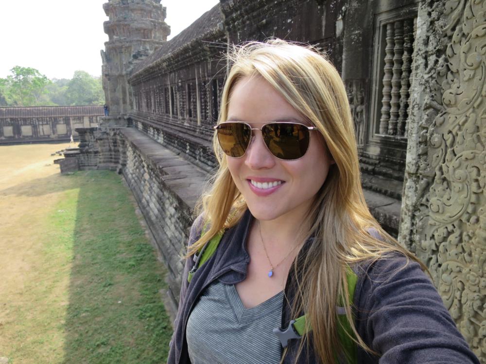 Angkor Wat selfie.