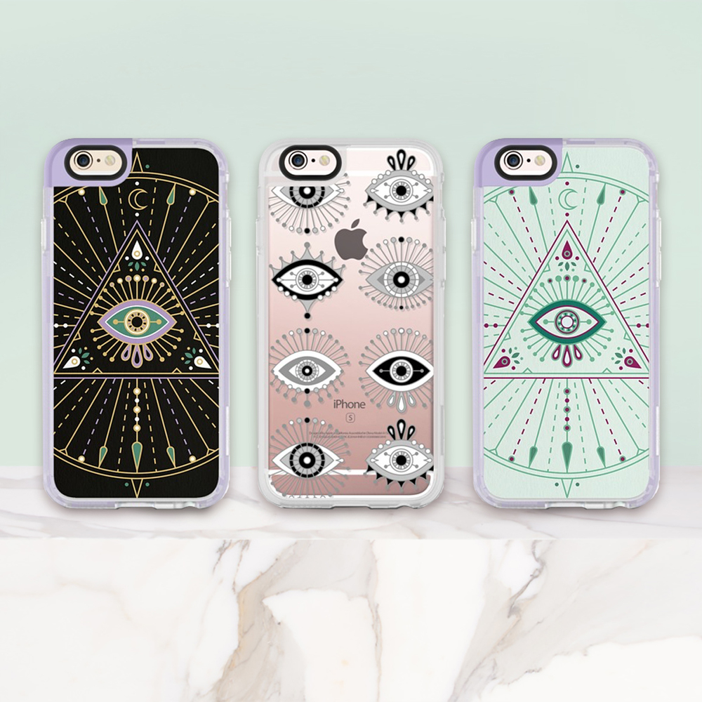 Phone cases available: left, middle, right