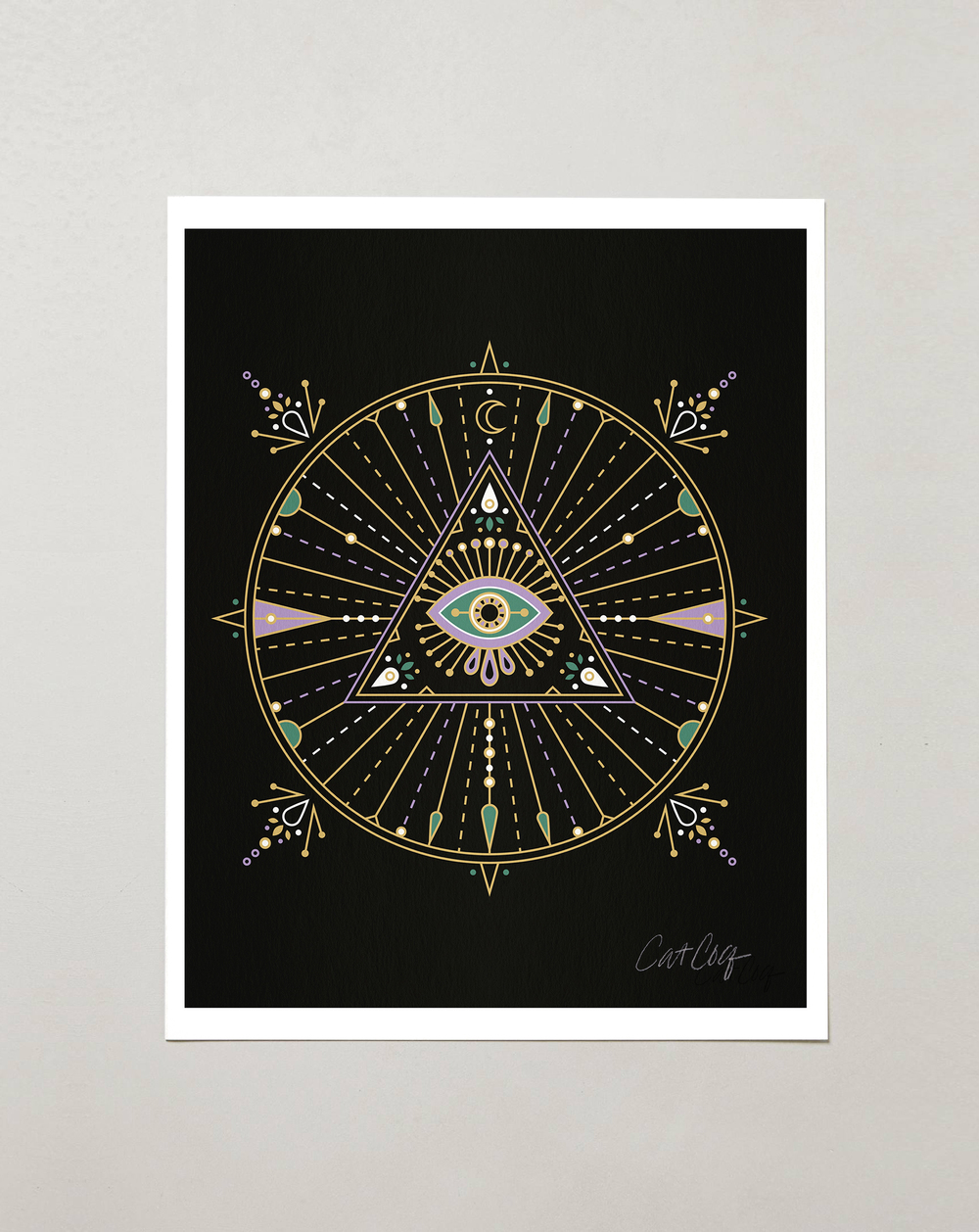 Black Evil Eye Mandala available here.