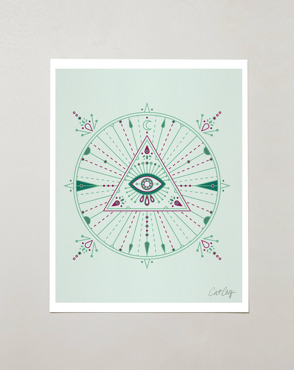 Mint Evil Eye Mandala available here.