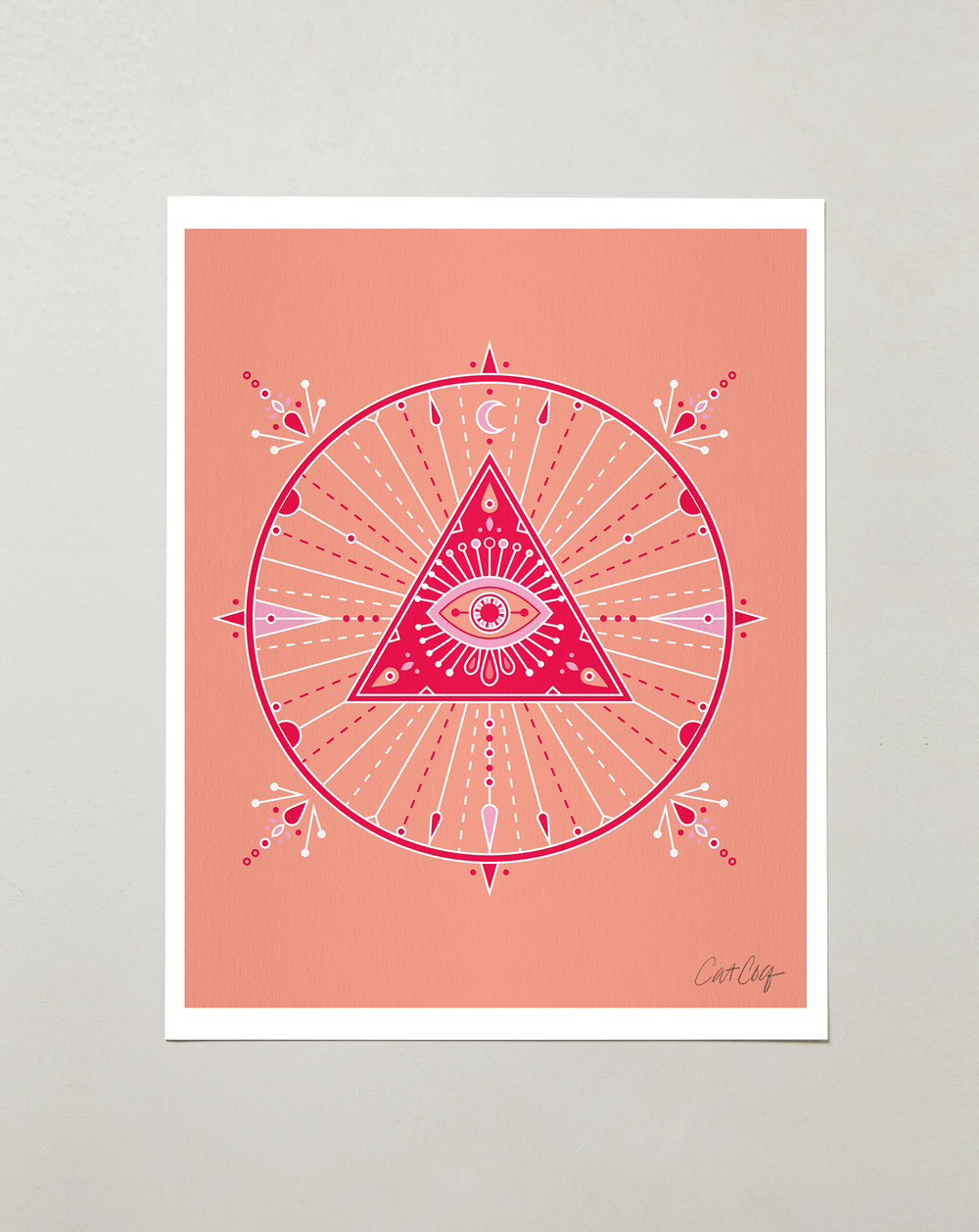 Pink Evil Eye Mandala available here.
