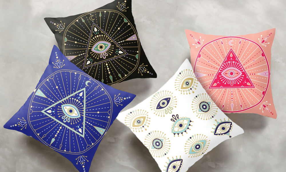Pillows available on my shop: navy, black, white, pink