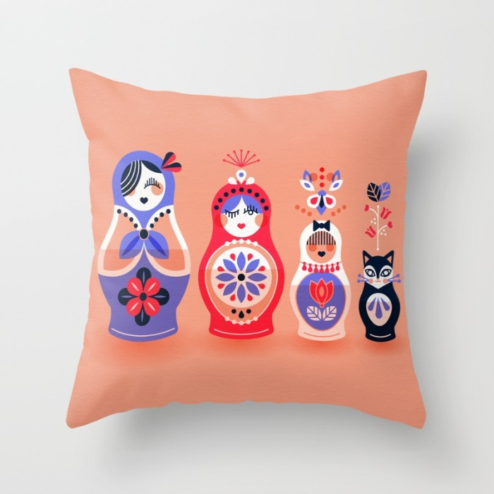 Throw Pillow available  here .