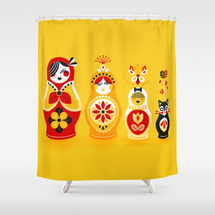 Shower Curtain available  here .