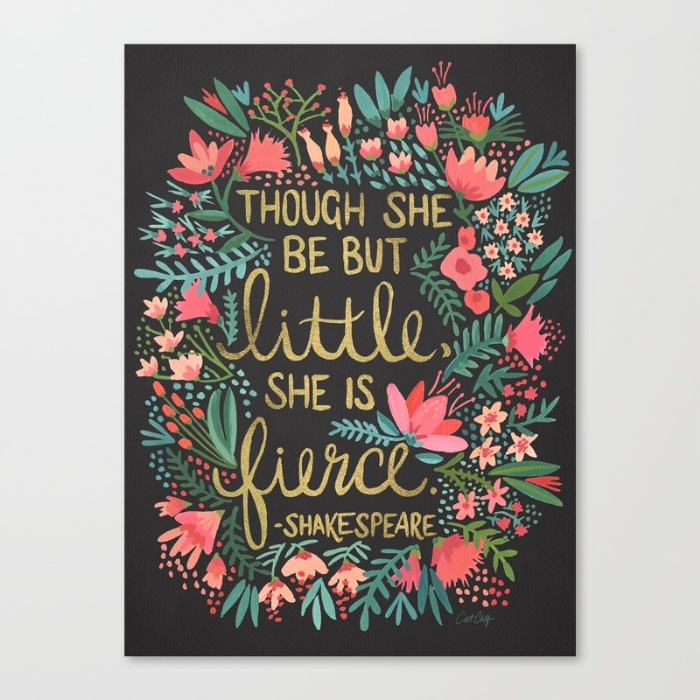 Little & Fierce on Charcoal /Canvas Print • $85–$150