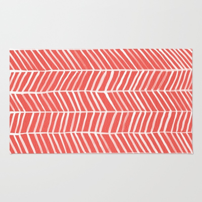 Coral Herringbone / Rug • $28–$79