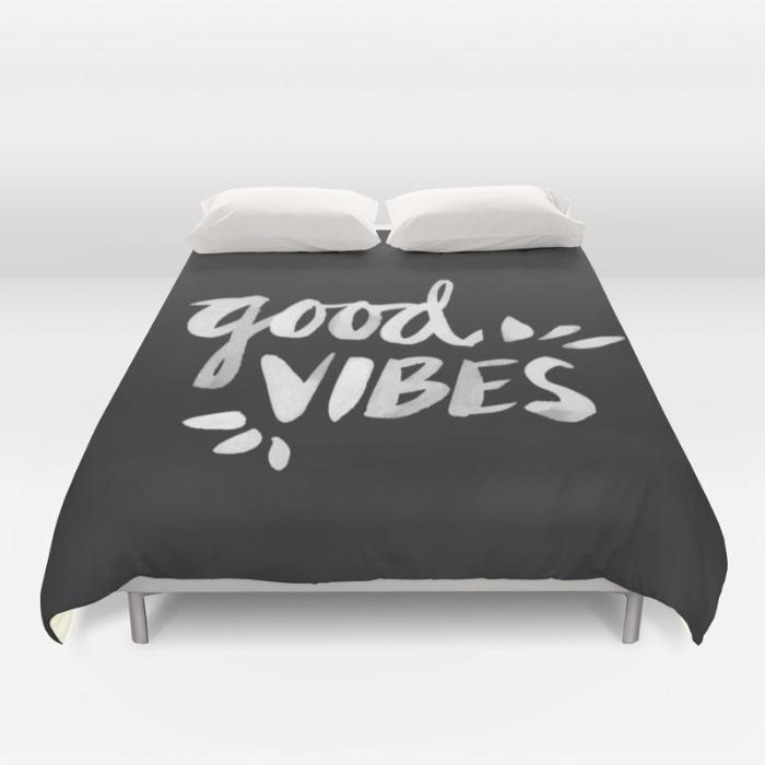 Good Vibes – White Ink / Duvet Cover • $89–$129