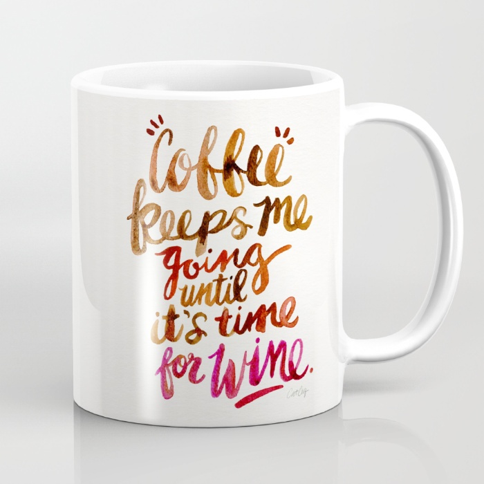 Coffee & Wine – Brown & Magenta • $15–$18