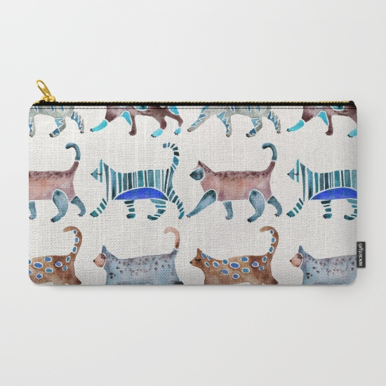 Cat Collection  •  carry-all pouch $18–$24