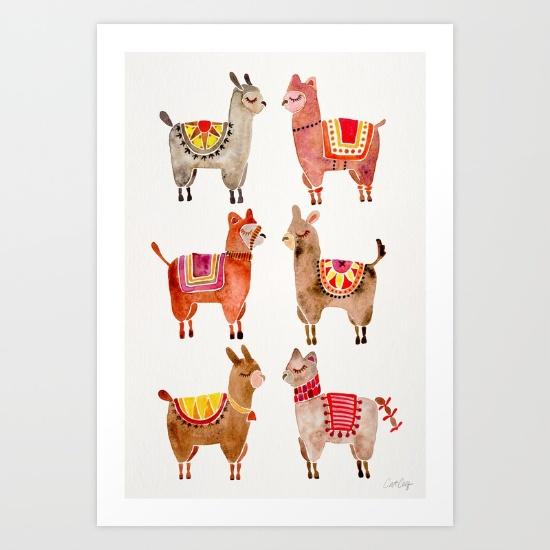 Alpacas • art print $18–$65