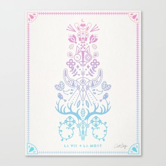 La Vie + La Mort • canvas print $85–$150