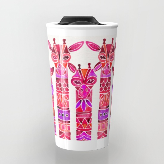 Giraffes   •  travel mug $24