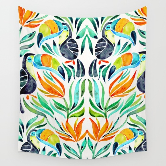 Tropical Toucans  •  wall tapestry $39–$79