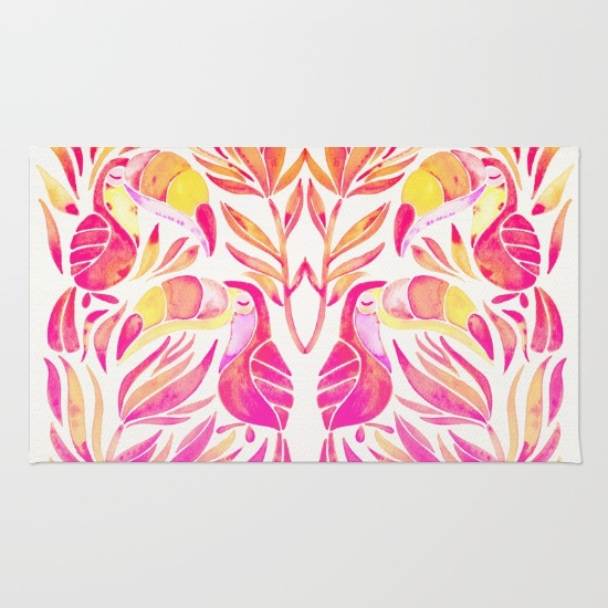 Tropical Toucans  •  rug $28–$79