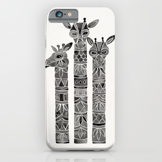 Black Giraffes  •  phone case $35–$45