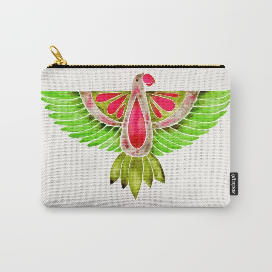 Lovebird Parrot  •  carry-all pouch $14–$24