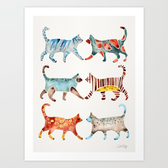 Cat Collection  •  art print $18–$65