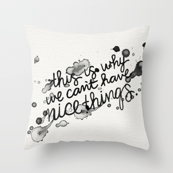 Nice Things  •  throw pillow $20–$39