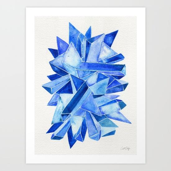 Sapphire Watercolor• art print $18–$64