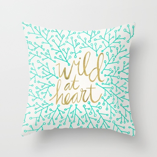Wild at Heart  •  throw pillow $20–$39