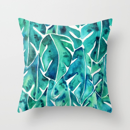 Split Leaf Philodendron  •  throw pillow $20–$39