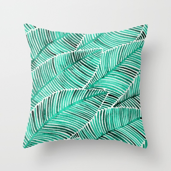 Tropical Turquoise  •  throw pillow $20–$39