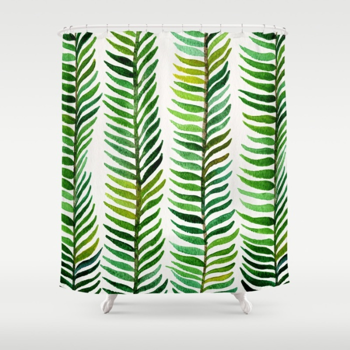 Seaweed shower curtain available  here .
