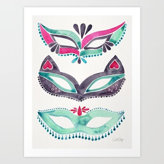 masquerade-mask-trio-pink-mint-palette-prints.jpg