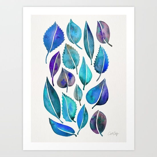 cascading-leaves-blue-palette-prints.jpg