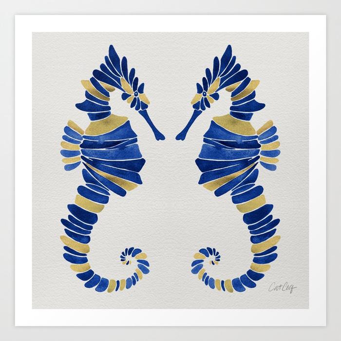 seahorse--navy--gold-prints.jpg