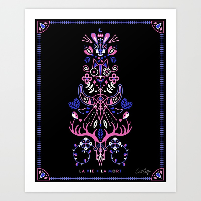 la-vie-la-mort-pink-periwinkle-on-black-prints.jpg