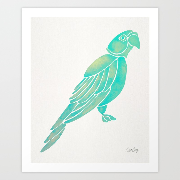 perched-parrot-mint-palette-prints.jpg