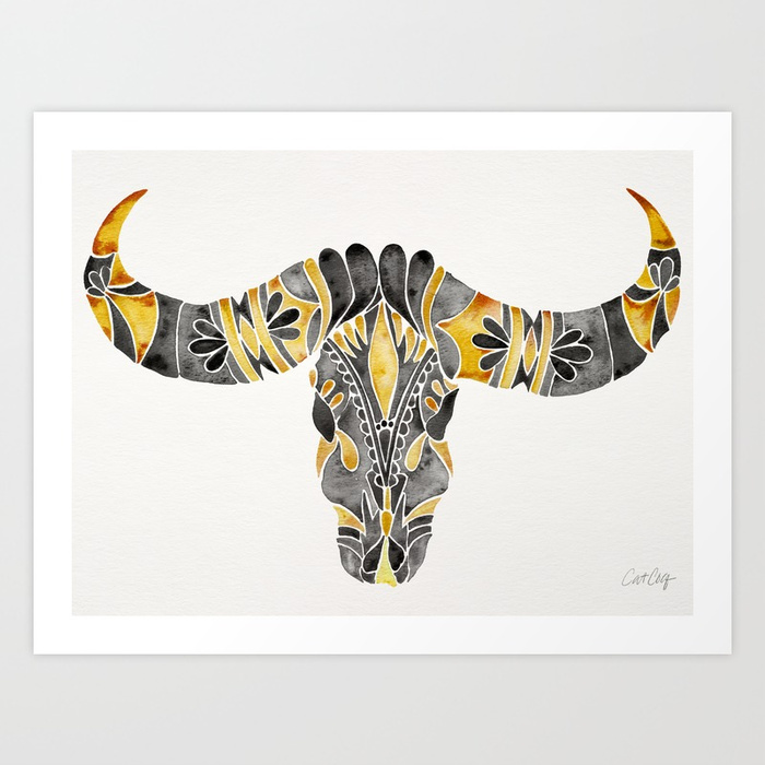 water-buffalo-skull--black--yellow-prints.jpg