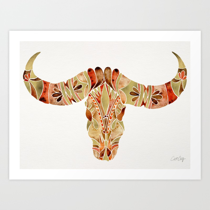 water-buffalo-skull--brown--gold-prints.jpg