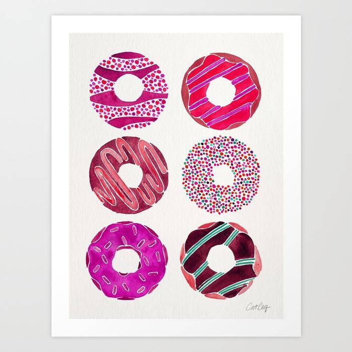 half-dozen-donuts-magenta-palette-prints.jpg