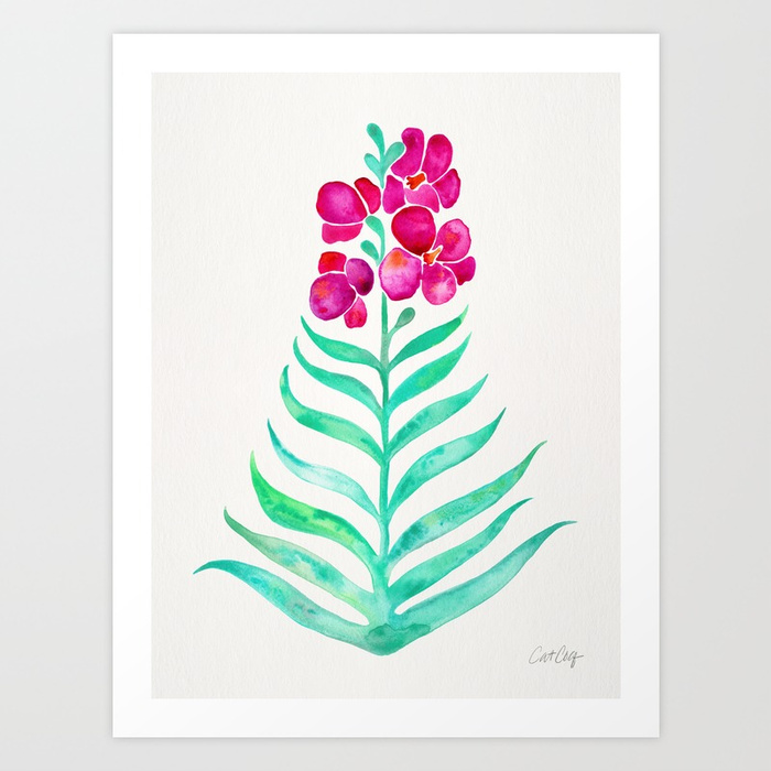 blooming-orchid-magenta-mint-palette-prints.jpg