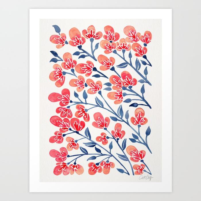 cherry-blossoms-melon-navy-palette-prints.jpg