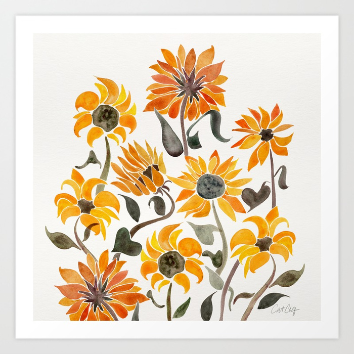 sunflower-watercolor-yellow-black-palette-prints.jpg
