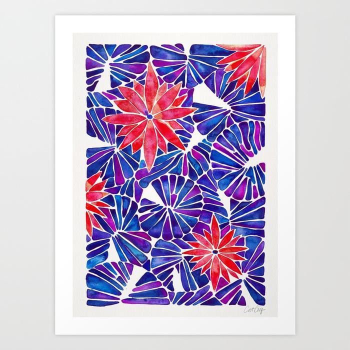 water-lilies-indigo-red-palette-prints.jpg
