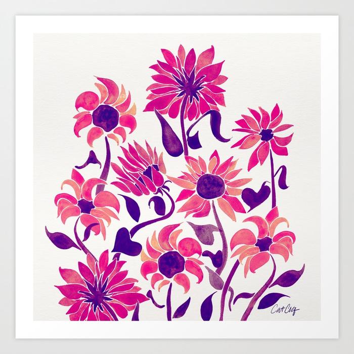 sunflower-watercolor-pink-purple-palette-prints.jpg
