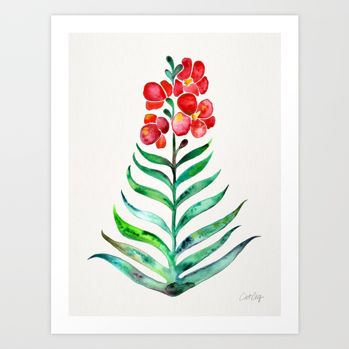 blooming-orchid-red-green-palette-prints.jpg